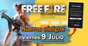 Códigos para free fire gratuitos de hoy 9 de julio de 2021; todas las recompensas gratuitas