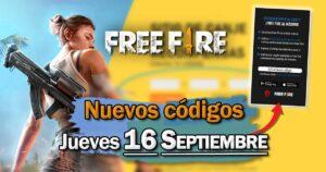 Códigos para reclamar recompensas en Free Fire este jueves 16 de septiembre